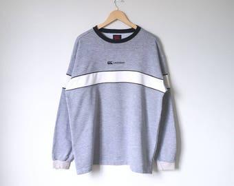On Sale! Vintage CANTERBURY Sweatshirt World Rugby Sportwear XL Size