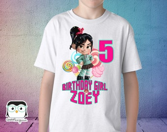 Vanellope Von Schweetz Birthday Shirt, Wreck it Ralph shirt, Wreck it Ralph birthday shirt, wreck it Ralph birthday, Wreck it ralph party