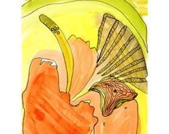Citrus - art print of an original drawing