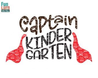 Captain Kindergarten SVG, Hello Kindergarten, preschool is so last year, svg png dxf eps use with Silhouette, Cricut Air etc
