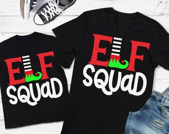 Elf squad svg, Christmas svg, elf svg, SVG, DXF, EPS, family svg, dad svg, santa, dxf files, funny elf svg, elf ideas, salon svg, teacher