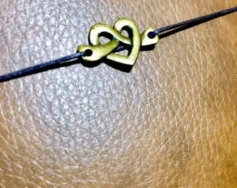 Travelers Notebook Metal Planner Charm  Heart Infinity planner accessories