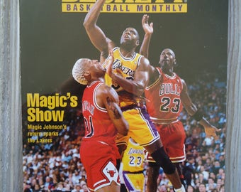 1996 Magic Johnson Beckett magazine - Vintage LA Decor - Los Angeles Lakers gift - Magic Johnson gift, 1996, LA Lakers, Earvin Magic Johnson