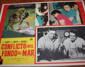 Destination Inner Space 1966 Mexican Science Fiction Film Movie Lobby Card