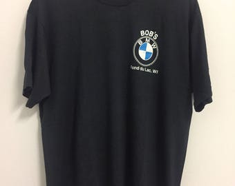 Vintage BMW printed  T Shirt X Large Size