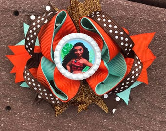 Moana hair bow Moana bows, Moana bows, Moana bow, Moana headband, Moana birthday bow, Moana birthday, Disney Moana bow Disney bows Moana