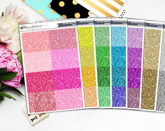 Faux Glitter Headers | for use with Erin Condren Lifeplanner™, Filofax, Personal, A5, Happy Planner