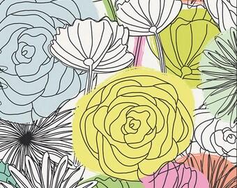 KNIT Fabric, Bloom Montage Light, Art Gallery Knits, Cotton Spandex Knit, Jersey Knit Fabric, K-59300