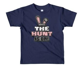 Kids - The Hunt is On! Shirt - Easter Shirt sleeve kids t-shirt