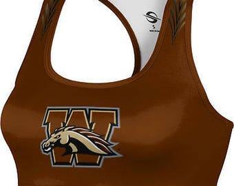 ProSphere Women's Western Michigan University Deco Sports Bra (WMU)