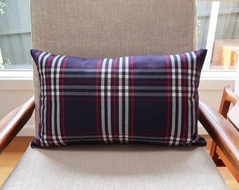 Navy rectangle cushion cover, Throw cushion cover, Scatter cushion cover, Throw pillow cover, Decorative pillow cover