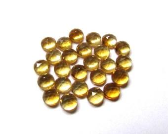 10 Pieces Lot 6mm GOLDEN CITRINE Round Rosecut gemstone