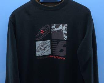 Vintage New Balance Big Logo Sweatshirt Sport Sweater Size M