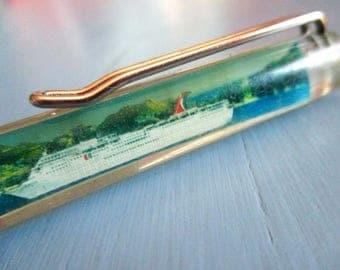 Vintage Pen, Float Pen, Advertising, Elation Cruise Lines, Ink Pen, Floaty, Ship, Travel Giveaway, Floater, Floaties, Collectible Pens