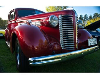 1938 Red Buick Photography Print