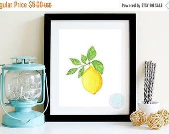 25% OFF SALE- PRINTABLE Art Lemon Kitchen Decor Citrus Fruit Print Fruit Wall Print Picture Of Lemon Lemon Illustration Lemon Art Print Lemo