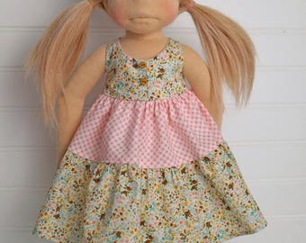 Floral and gingham DOLL dress