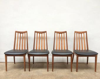 Set Of 4 Kofod Larsen G Plan Teak Dining Chairs. Retro Mid Century.