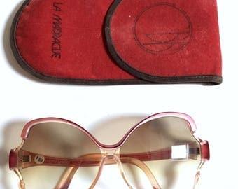 Vintage 1970s Brigitte Bardot Maria oversized butterfly sunglasses .