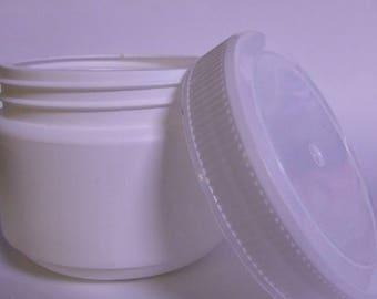 Empty White Jar + Screw Top Lid **400g**