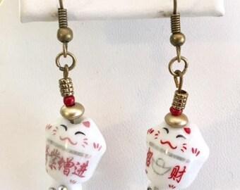 Cute Porcelain Elegant Mouse Earrings
