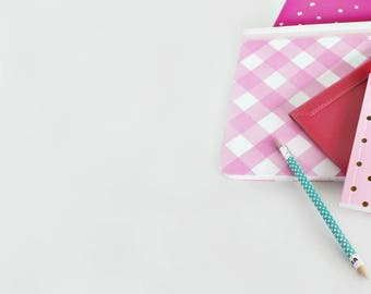 Pink Right Square Photo Flat Lay