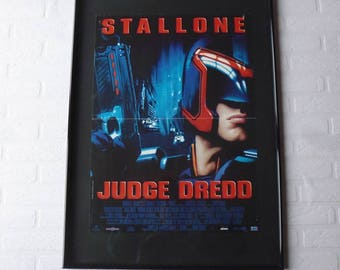 1995 Judge Dredd  Sylvester Stallone original movie poster