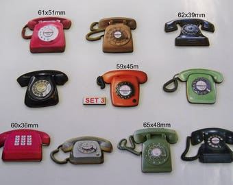 HANDSET TELEPHONES. Most from 1950s and 1960s Style (Set 3)