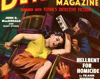 Dime Detective Magazine - Cover Art and Illustrations - 40 Trading Cards - Pulp Magazines