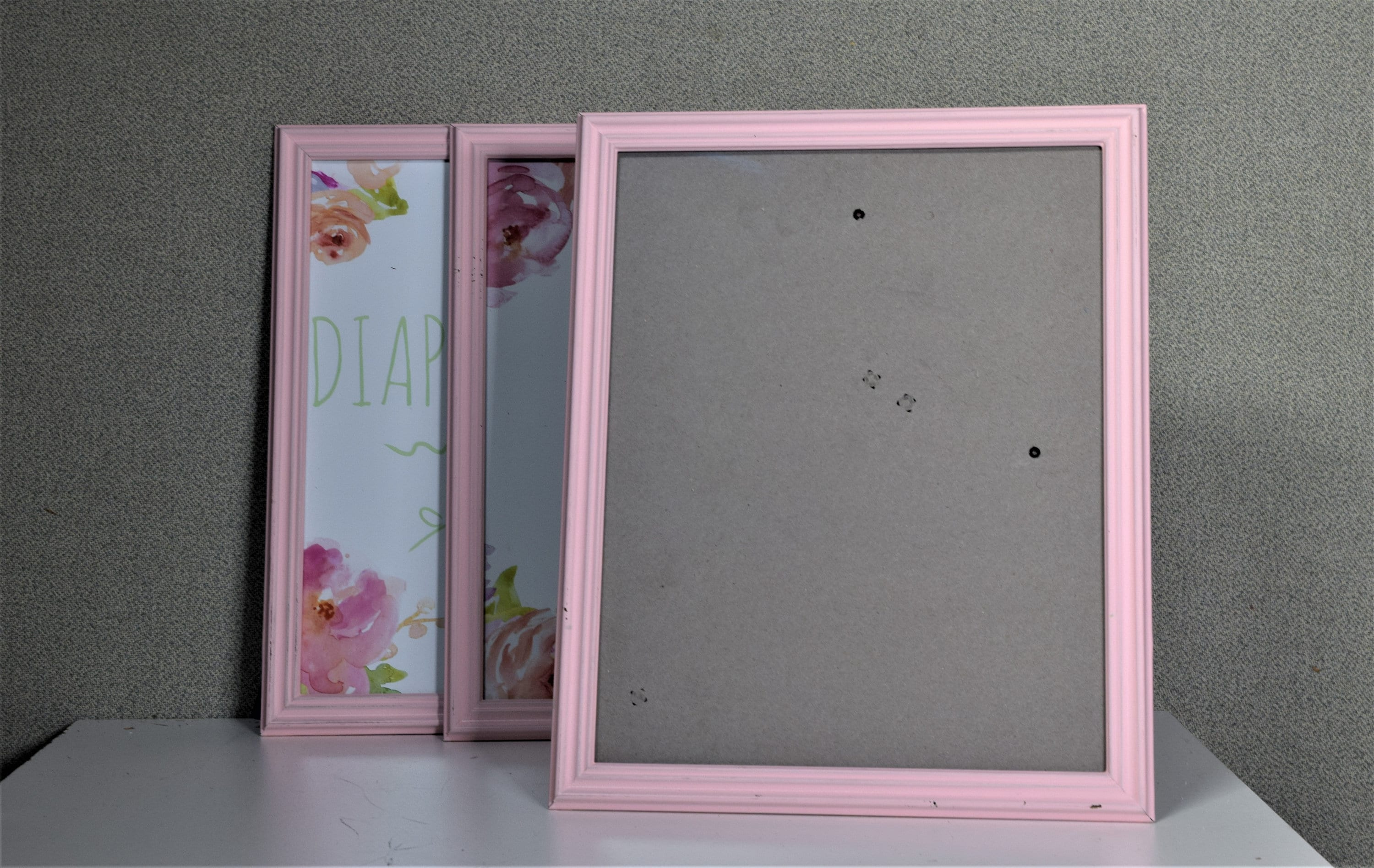 8x10 frame pink plastic with optional glass and matting complete sold by frametowne jeuxipadfo Image collections