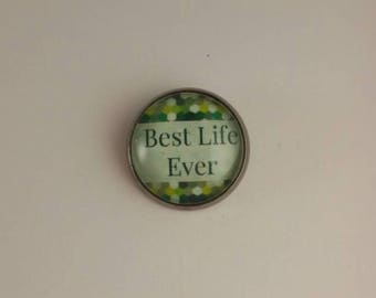 "JW Men's Tie Tac ""Best Life Ever."" Green dot background. Jw menswear accessories, jw item, jw gift"