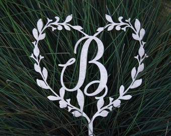 Cake topper Personalized monogram Wedding Cake Topper Wedding Cake Decor Keepcake Wedding  cake topper Champagne gold Topper