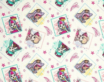 New Shopkins Framed Shoppies  100% cotton Fabric By The Yard (65975)
