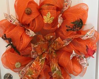 Bright Spring Bow Wreath