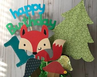 Fox birthday centerpiece, 1st birthday decoration, woodland animals birthday centerpiece, fox party decor, fox themed party