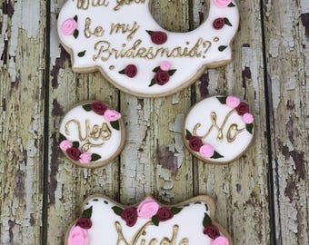 Bridal shower, bridesmaids cookies