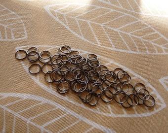 Black Jump Rings, 8mm Open Jump Rings, Gun Metal Black Split Rings, Clasp Connector, Jump Rings, Jewelry Findings