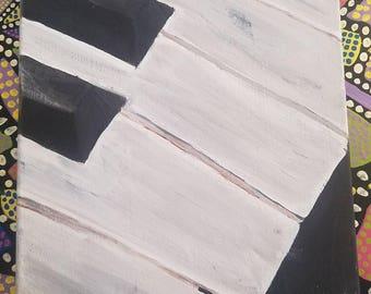 Piano Keys Acrylic Painting on 11x14 Canvas