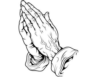 Praying Hands Tattoo #1 Tat Christian Christianity Religion Religious Death.SVG .EPS .PNG Digital Clipart Vector Cricut Cut Cutting Download