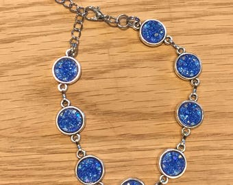 Blue Druzy Bracelet - Druzy - Druzy Bracelet - Blue Anklet - Druzy Anklet - Blue - Druzy Jewelry - Adjustable - Anklet - Bracelet - Jewelry