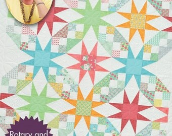 Quilt in a day, Roundabout Stars Quilt Pattern, by Eleanor Burns, easy quilt pattern