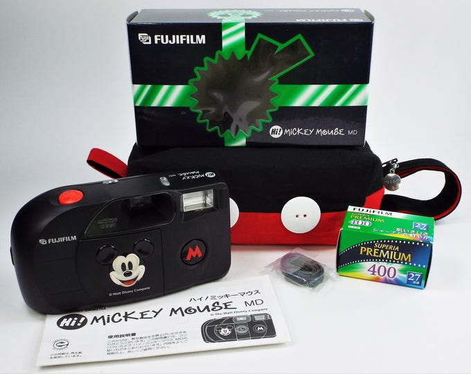 Fujifilm Hi! Mickey Mouse MD 35mm Compact Film Camera - Mint New in Box - Rare Limited Edition Disney - Fujinon 33mm Lens - Fujicolor Film