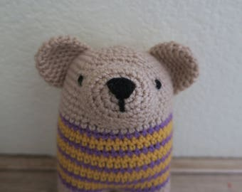 Crochet Bear Rattle Baby Toy
