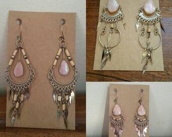 Bulk lot if 3 pairs of Pink Opal Earrings