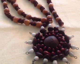 On Sale Strange But Lovely Wooden Necklace
