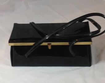 Adorable Vintage Patent Leather Box Purse