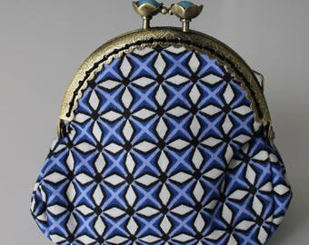 Blue retro purse