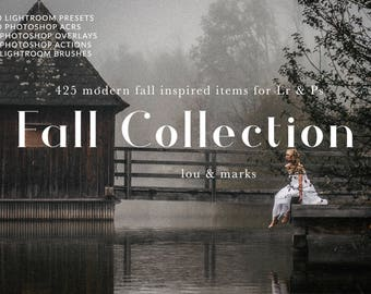 425 Fall Presets, ACRs, Actions, Overlays and Brushes for Lr & Photoshop by LouMarksPhoto for outdoor photography