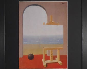 Framed Collectable Surrealism Art By Rene Magritte - The Human Condition - 30cms by 40cms