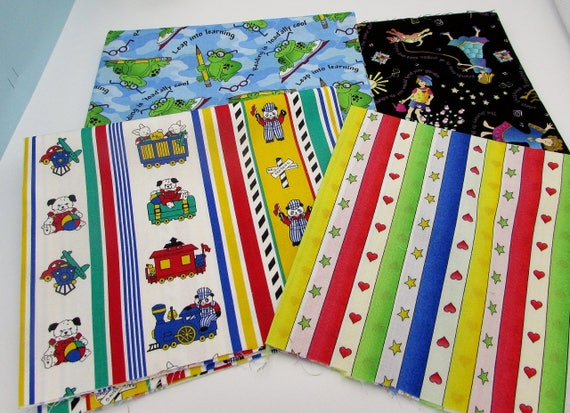 Kid 39 s novelty cotton prints quilt bundle frogs friends for Childrens fabric bundles